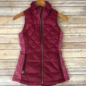 Lululemon cranberry puff vest